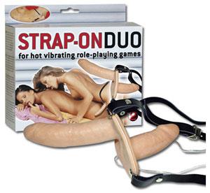 Strap-on Duo | Vibrerende dubbele voorbind dildo
